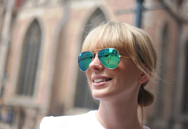 ray ban aviator grüne gläser